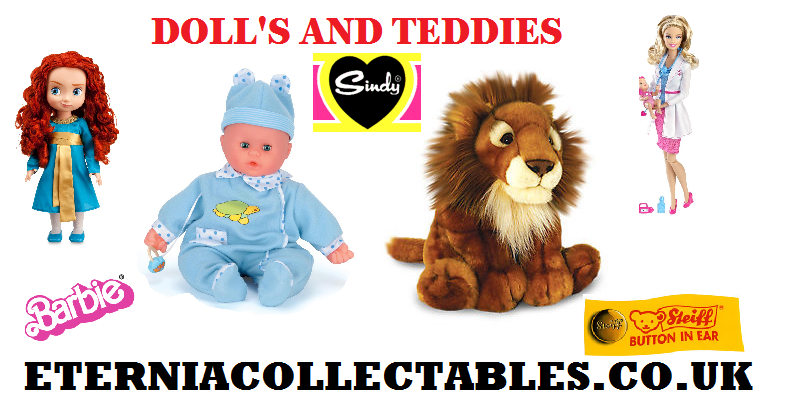 Dolls and teddy bears for sale