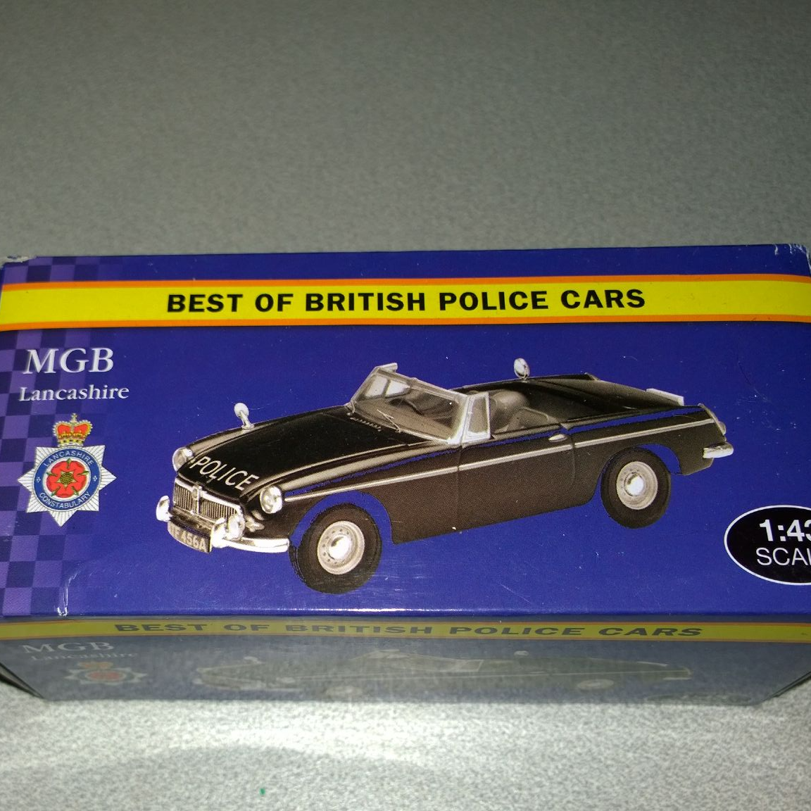 Atlas Editions Best Of British Police Cars Mgb Lancashire Police 1 43