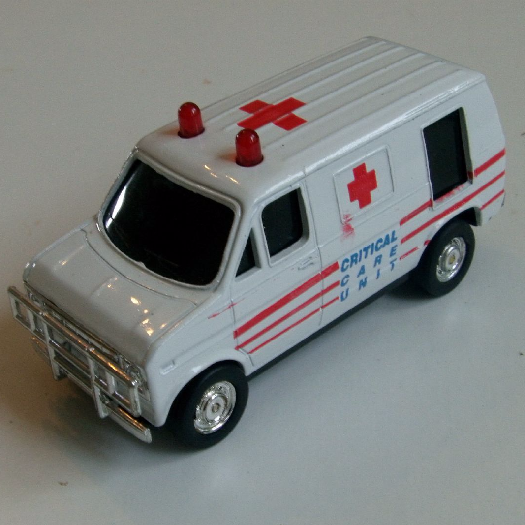 Swiss Vans Large Uk Ford: Corgi 1 43 Critical Care Unit Ambulance Ford Van Unusual Diecast Model @SOLD@