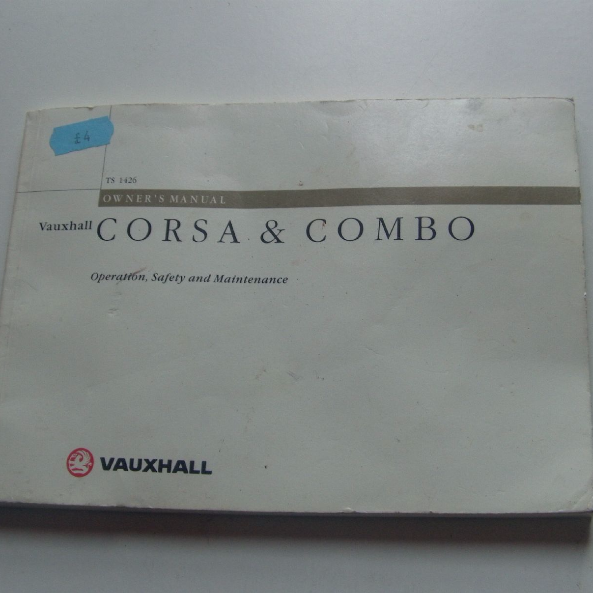 Vauxhall Corsa Combo Owner S Manual January 2000 Edition Spares Email This To A Friend